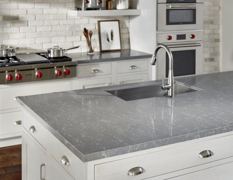 Zodiaq Concrete Carrara Kitchen MID