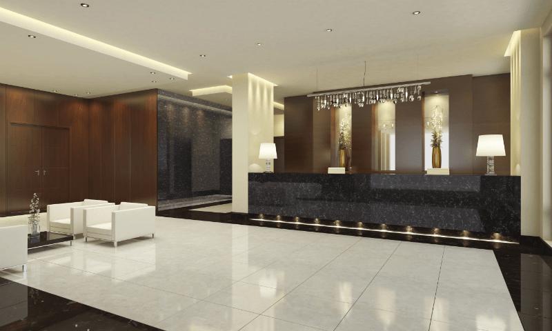 Zodiaq Onyx Carrara Lobby