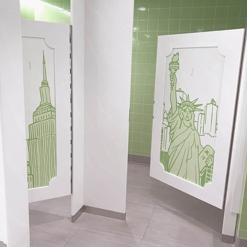 Custom Toilet Partition